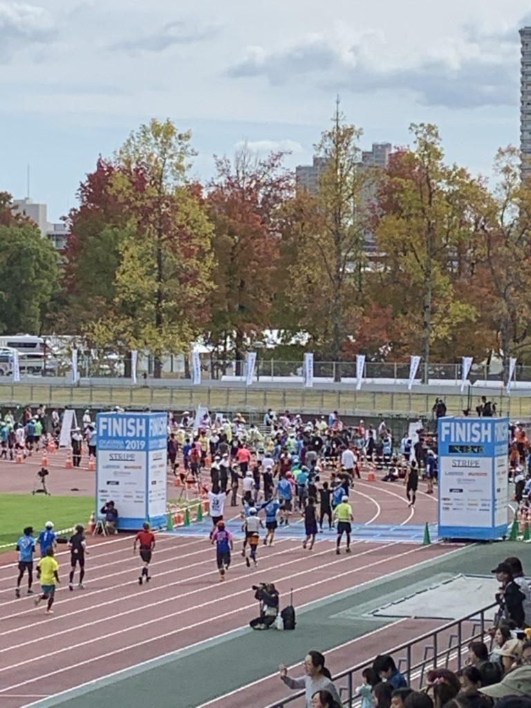 おかやまマラソン ゴール地点