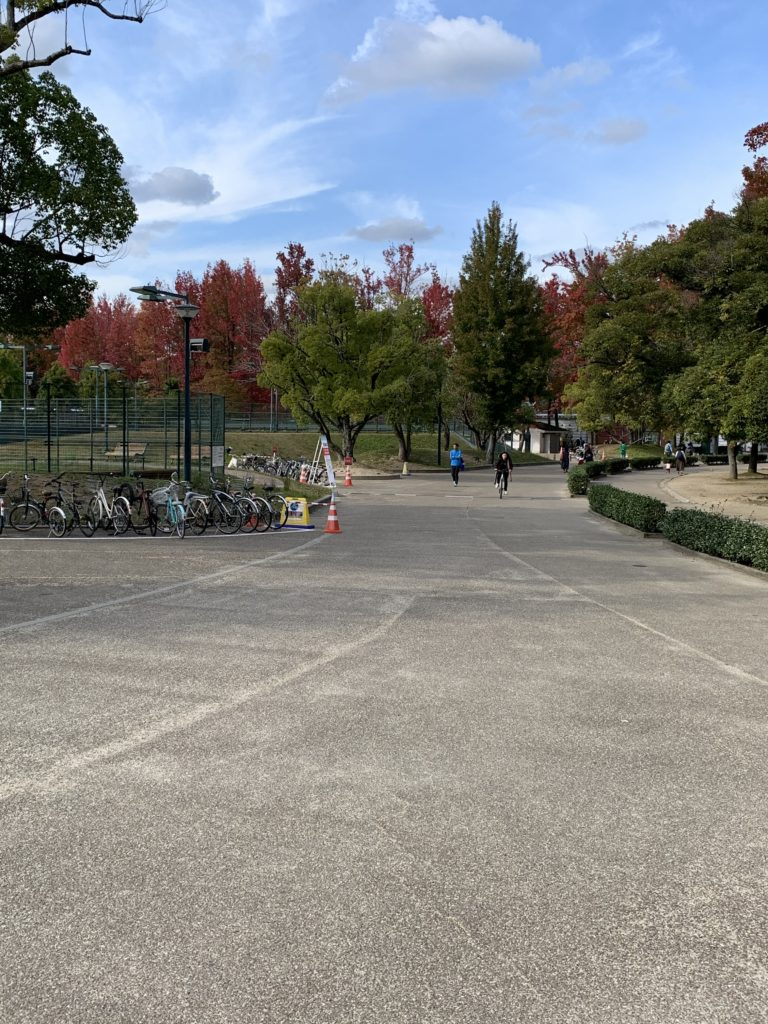 岡山県総合グラウンドのジョギングコース