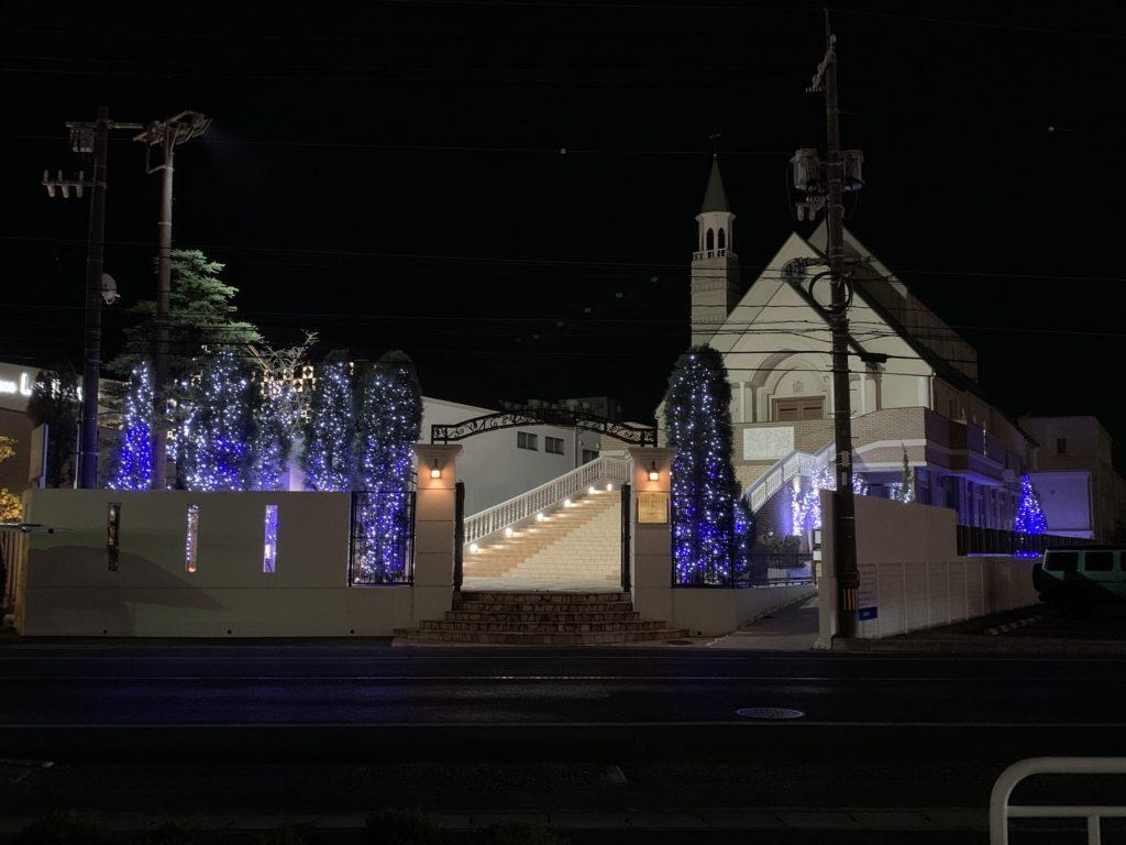 倉敷セレスト教会クォーレのイルミネーション
